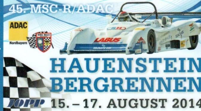 Start beim 45.ADAC Hauenstein Bergrennen